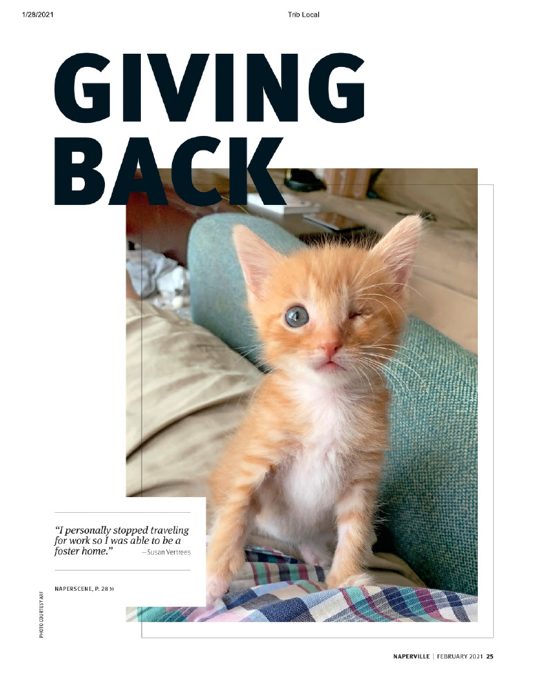 Giving Back - Naperville Magazine February 2021