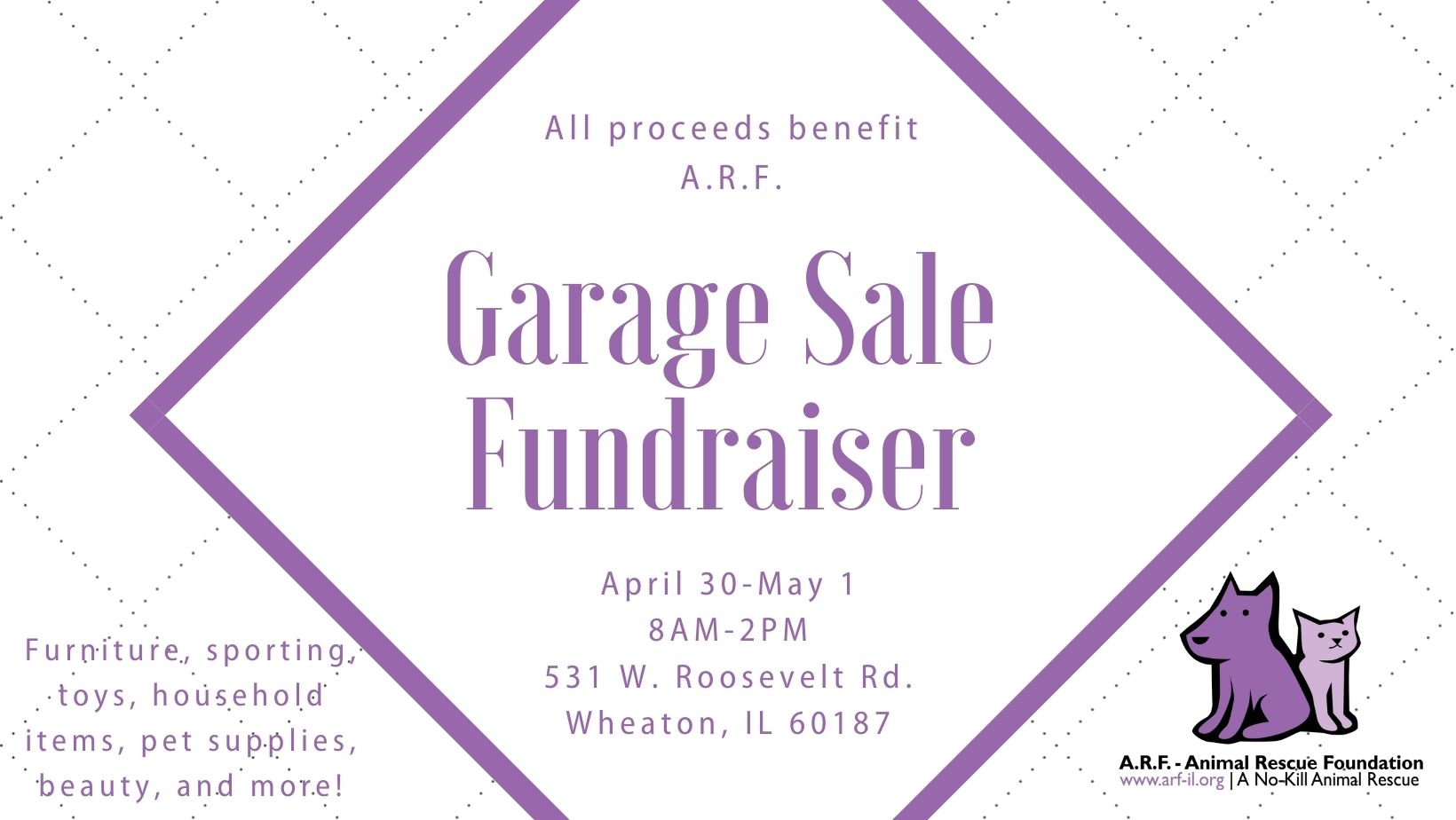 Garage Sale Fundraiser April 30-May 1